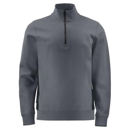 Sweat de travail résistant 2128 col zippe Projob gris ou marine