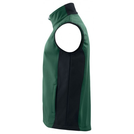 Gilet sans manches softshell respirant 3702 Projob noir ou vert