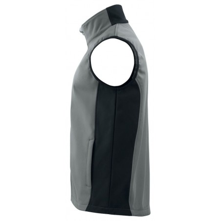 Gilet sans manches softshell respirant 3702 Projob gris ou marine