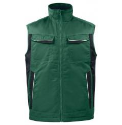 Gilet de travail bodywarmer matelassé 5704 Projob noir ou vert