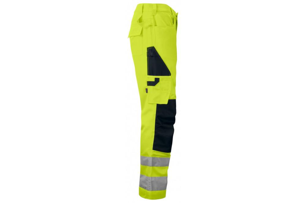 Pantalon haute visibilité avec poches genoux 6532 Projob jaune