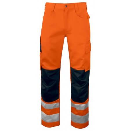 Pantalon haute visibilité avec poches genoux 6532 Projob orange
