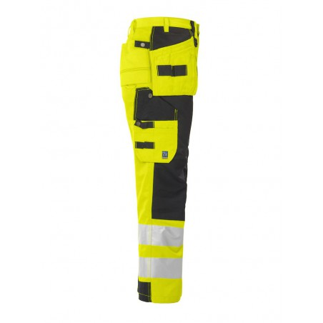 Pantalon haute visibilité classe 2 résistant 6506 Projob jaune
