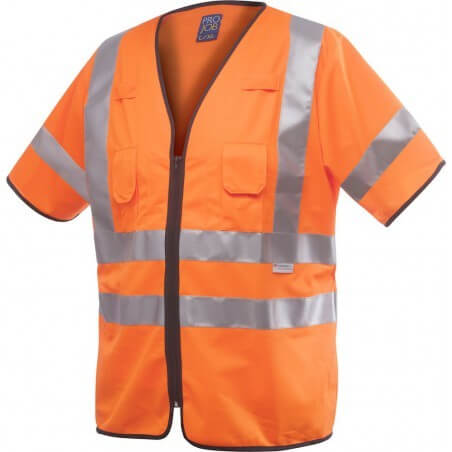 Gilet haute visibilité manches courtes classe 3 Projob 6707 orange
