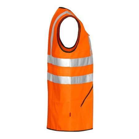 Gilet haute visibilité zippé classe 3 Projob 6702 orange