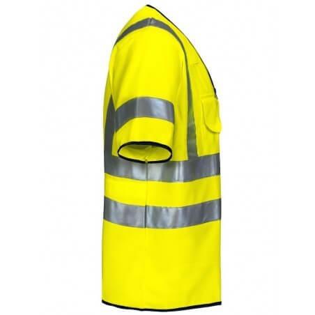 Gilet haute visibilité manches courtes classe 3 Projob 6707 jaune