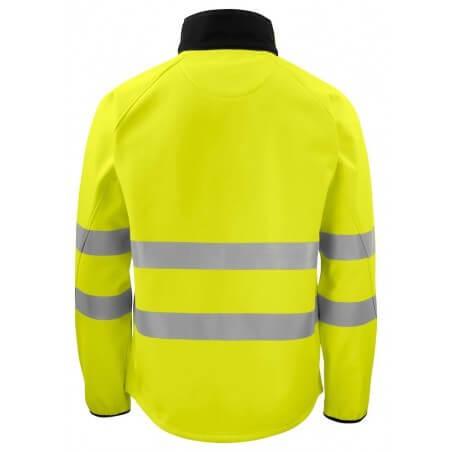 Veste softshell haute visibilité 6432 Projob jaune fluo