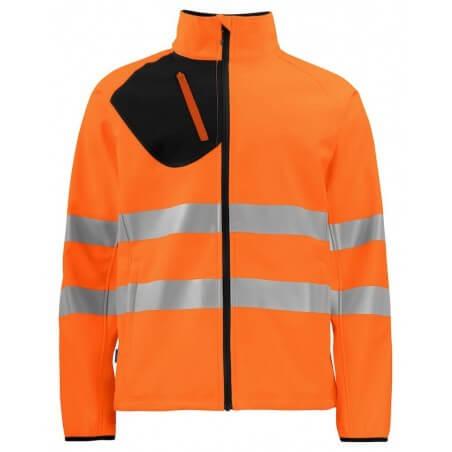 Veste softshell haute visibilité 6432 Projob orange fluo