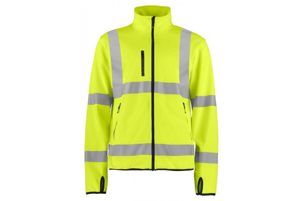 e2a4cfe2c Veste softshell haute visibilité légère 6105 Projob jaune fluo - Cotepro
