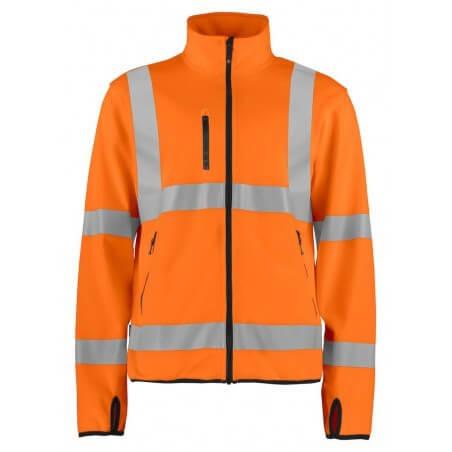 Veste softshell haute visibilité légère 6105 Projob orange fluo