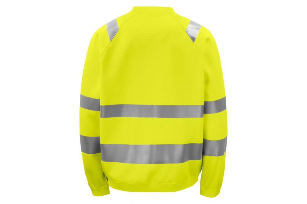 Sweat haute visibilite col rond 6106 Projob jaune fluo
