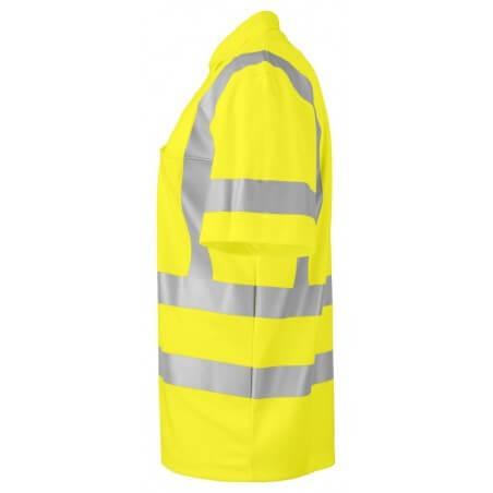 Polo piqué manches courtes haute visibilite 6040 Projob jaune fluo