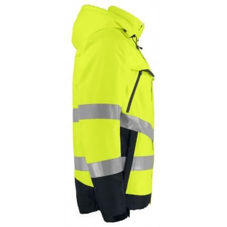 Parka de haute visibilité impermeable 6441 Projob jaune fluo