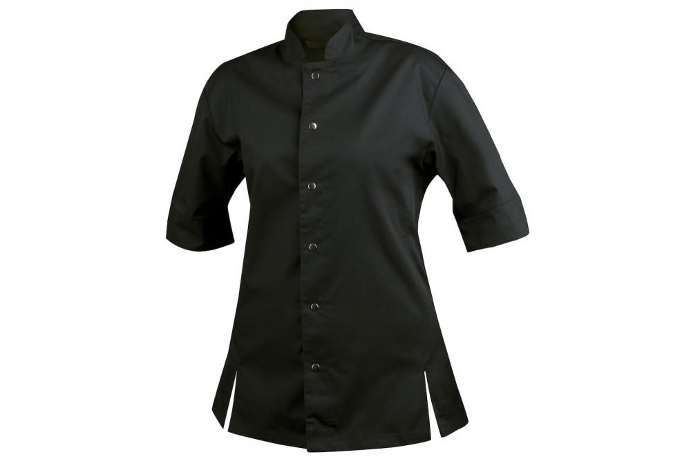 Veste de chef cuisinier coupe ajustée femme 7410 Projob noire