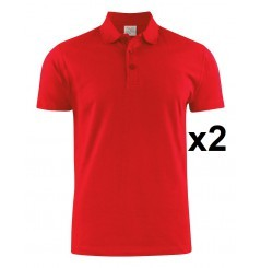 Polo piqué manches courtes lot de 2 Surf RSX rouge ou blanc Printer
