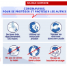 copy of Lot de 10 masques de protection réutilisables 3 couches conforme AFNOR