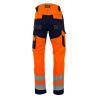 Pantalon de haute visibilité Polarisation EN ISO 20471 orange bleu