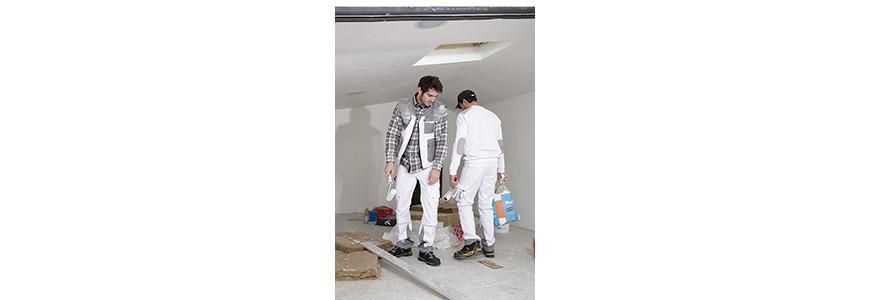 Vetements et tenues de peintre : blanc de peintre, pantalon, combinaison pro
