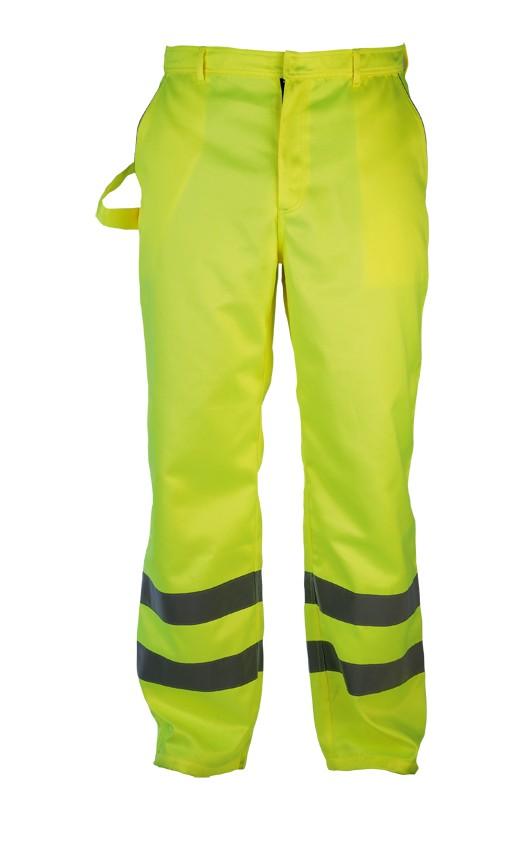 Pantalon haute visibilité : pantalons fluo de chantier fluorescent pas cher