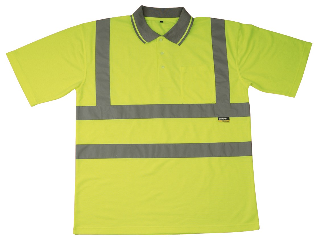 T shirt et polo fluo haute visibilité : t shirts et polos jaune fluorescent