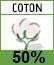 Picto 50% coton